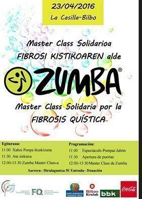 ZUMBA MASTER CLASS POR LA FIBROSIS QUÍSTICA 2016 ORGANIZADA POR ARNASA BIZKAIA