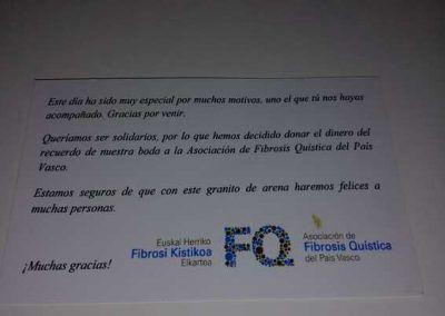 Tarjeta solidaria fibrosis quíistica