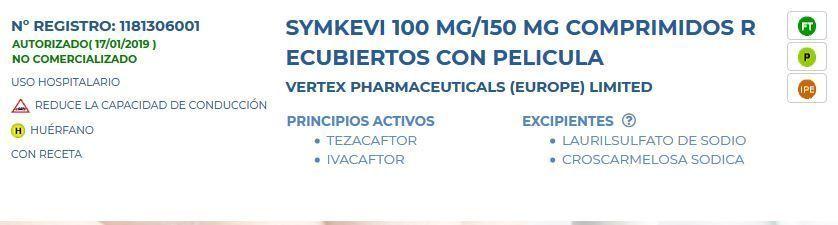 symkevi agencia española medicamento