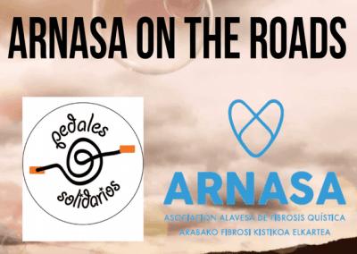 Colaboracion pedales solidarios y Arnasa