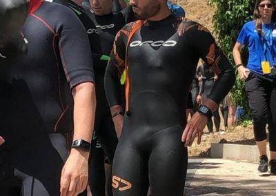 Jonatan antes del inicio triatlon