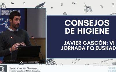 Consejos de higiene: Javier Gascón